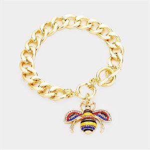 Color Bee Charm Bracelet